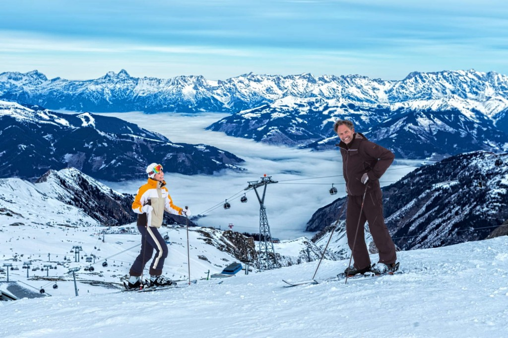 Amazing views from the top of the mountain in Austria
