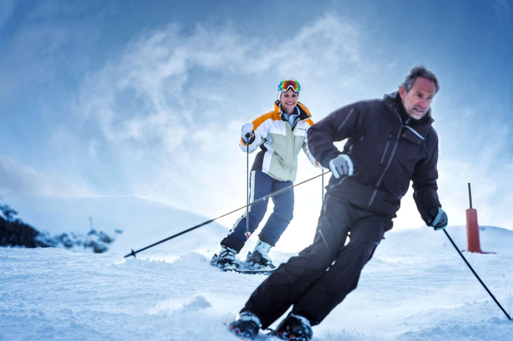 Guests enjoying their time skiing in Austria