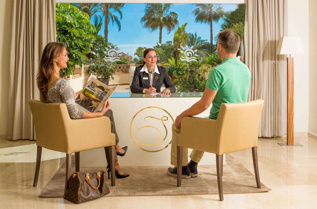Guests checking in and enjoying the perks of being a Signature owner