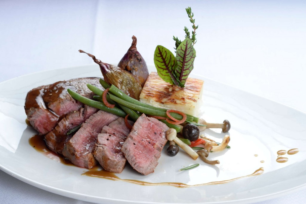 Dishes of delicious food served at San Diego Suites