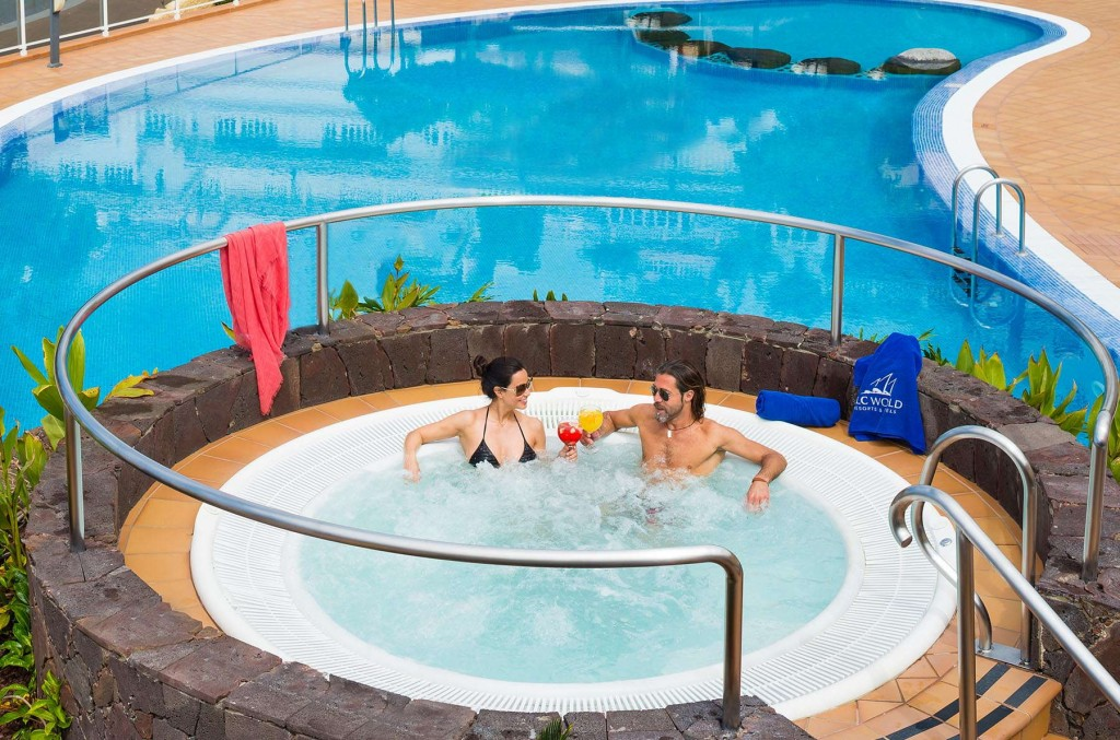 Guests enjoying the jacuzzi at Monterey