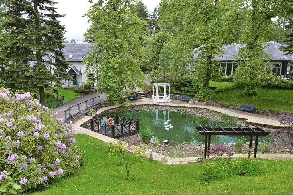 The enchanting pond in Duchally Country Estate grounds