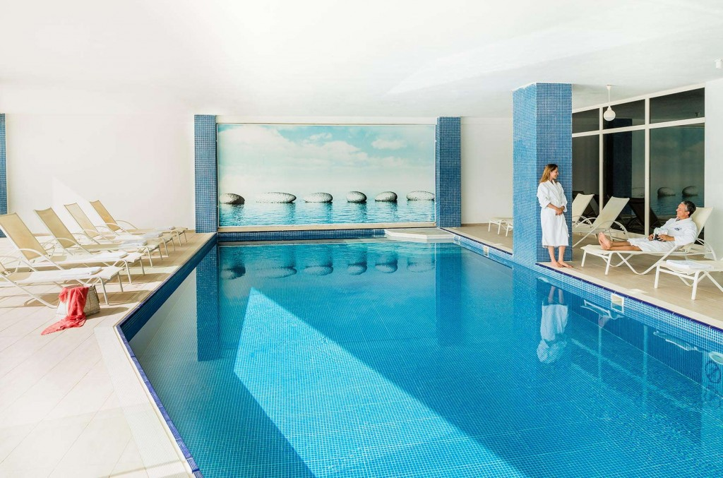 Guests taking advantage of the beautiful indoor pool
