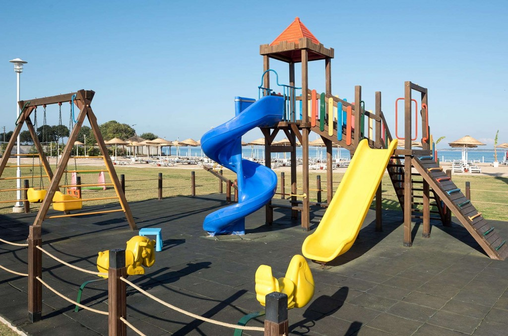 Fun playground with colourful slides and games
