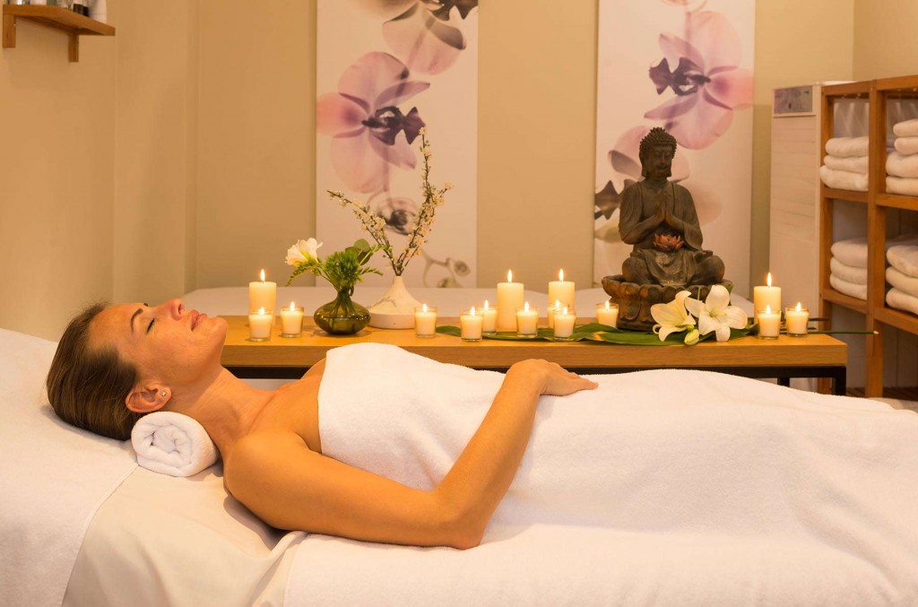 Guest enjoying a relaxing experience at the Marina del Rey spa