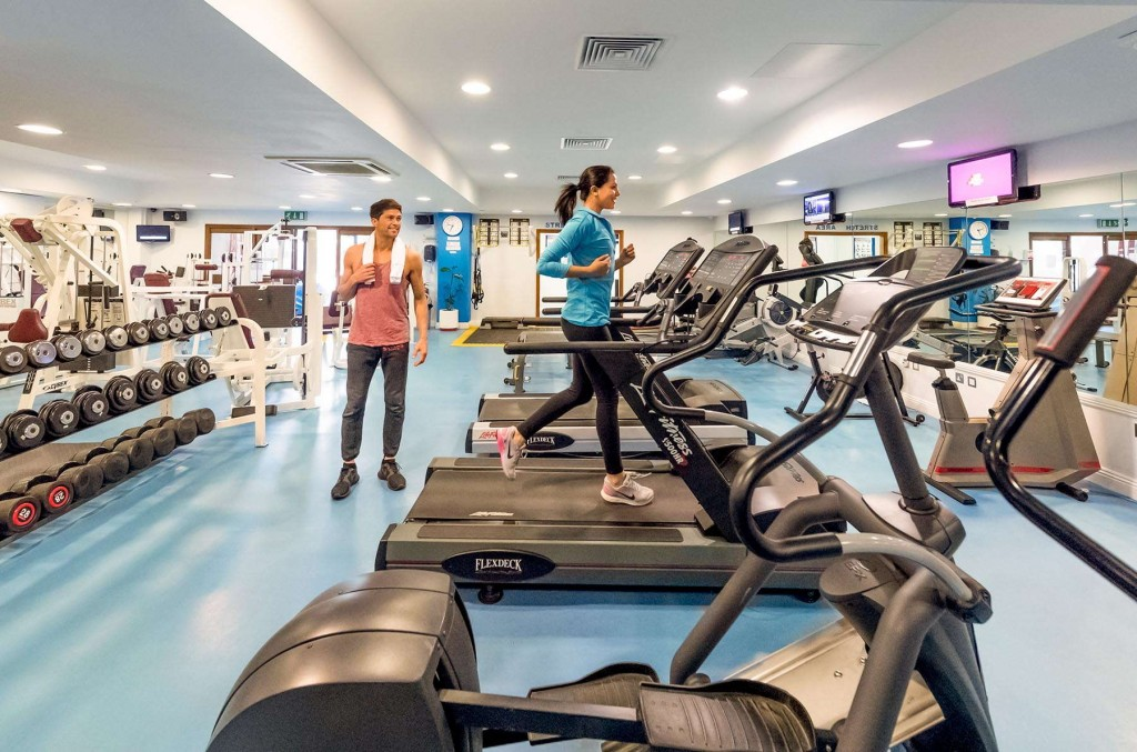 Guests using the fitness centre at CLC World